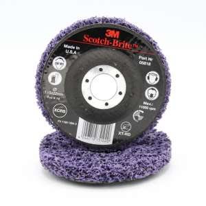 Круг зачисний 3M™ Scotch-Brite™ Clean&StripТМ XT-RD фіолетовий, 115х22 мм, 05818